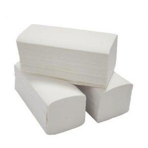 Hajtogatott kéztörlő, 80%-os fehérségű, 2 rétegű