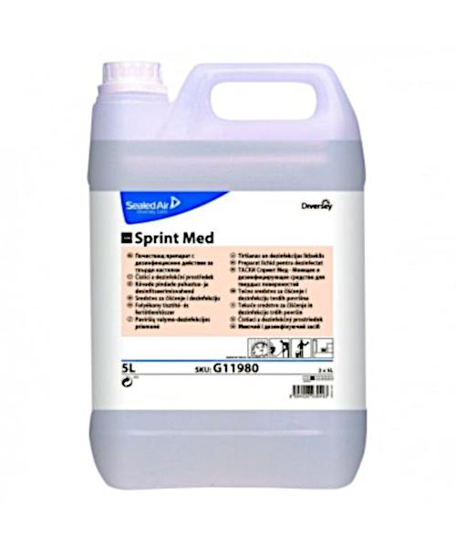 TASKI Sprint Med Felületfertőtlenítő- és tisztítószer, 5 literes